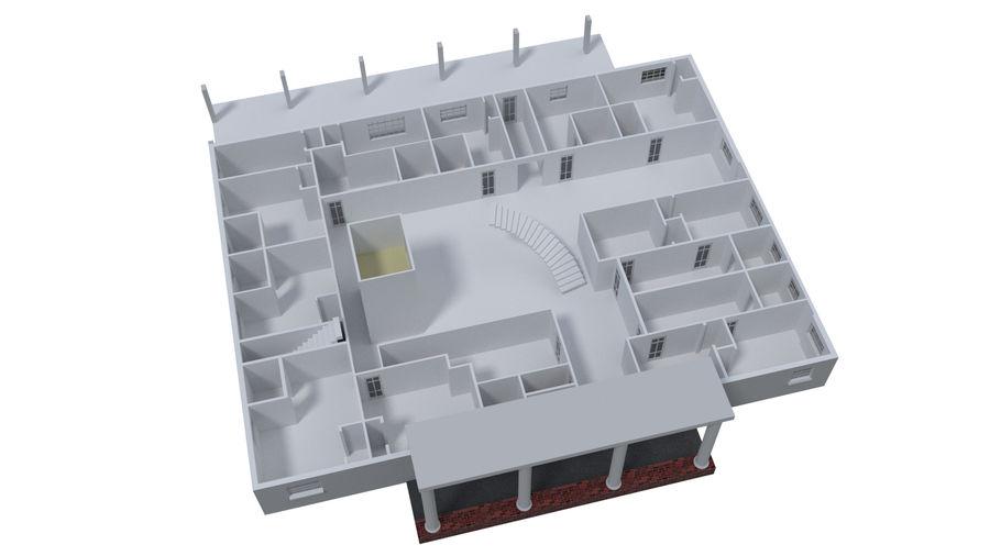 bâtiment public royalty-free 3d model - Preview no. 8