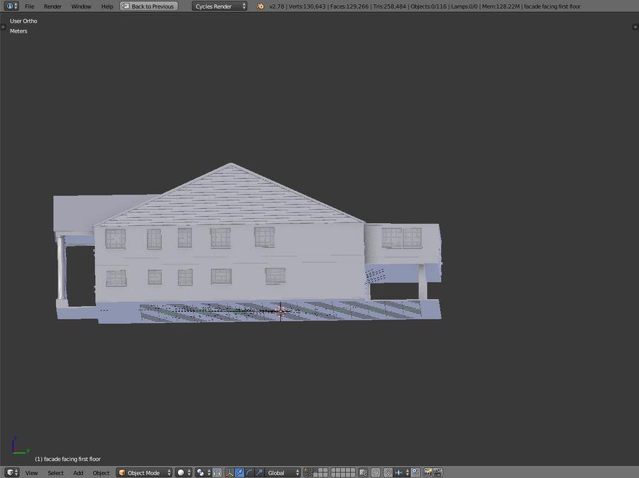 bâtiment public royalty-free 3d model - Preview no. 14