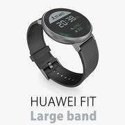 Smartwatch Huawei Fit z dużym paskiem 3d model