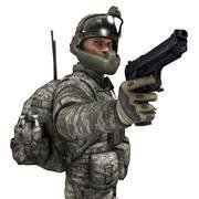 Modern ABD askeri 3d model