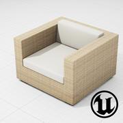 Patio Furniture Chair 001 UE4 3d model