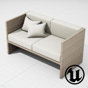 Мебель для патио 002 Диван 001 UE4 3d model