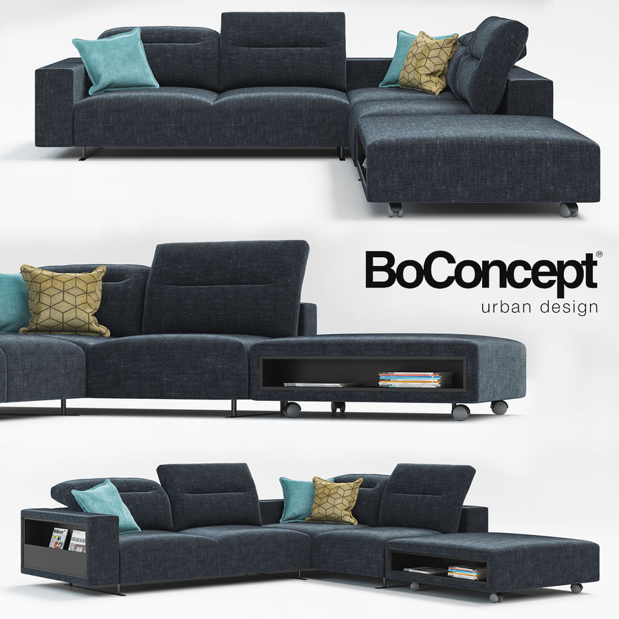 Sofá Hampton BoConcept royalty-free modelo 3d - Preview no. 1