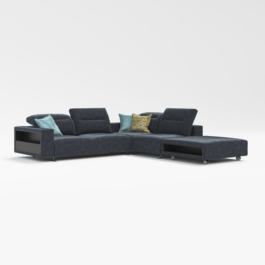 Sofá Hampton BoConcept royalty-free modelo 3d - Preview no. 2