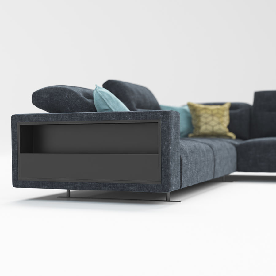 Sofá Hampton BoConcept royalty-free modelo 3d - Preview no. 7