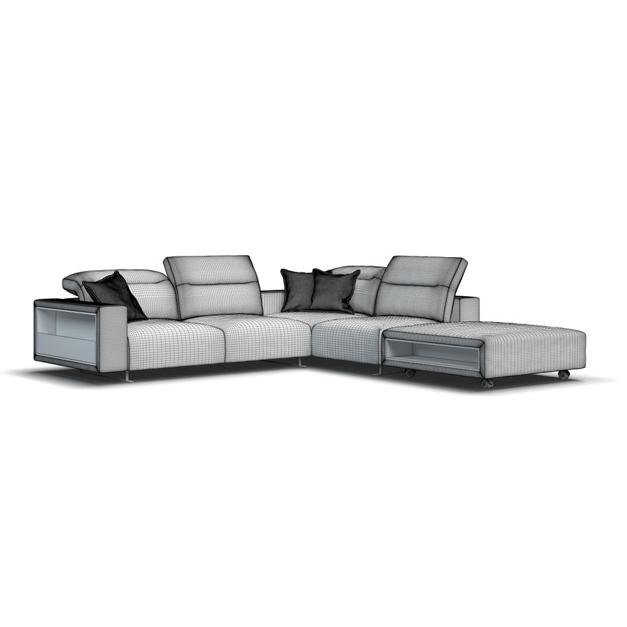 Sofá Hampton BoConcept royalty-free modelo 3d - Preview no. 9