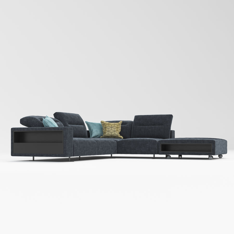 Sofá Hampton BoConcept royalty-free modelo 3d - Preview no. 4