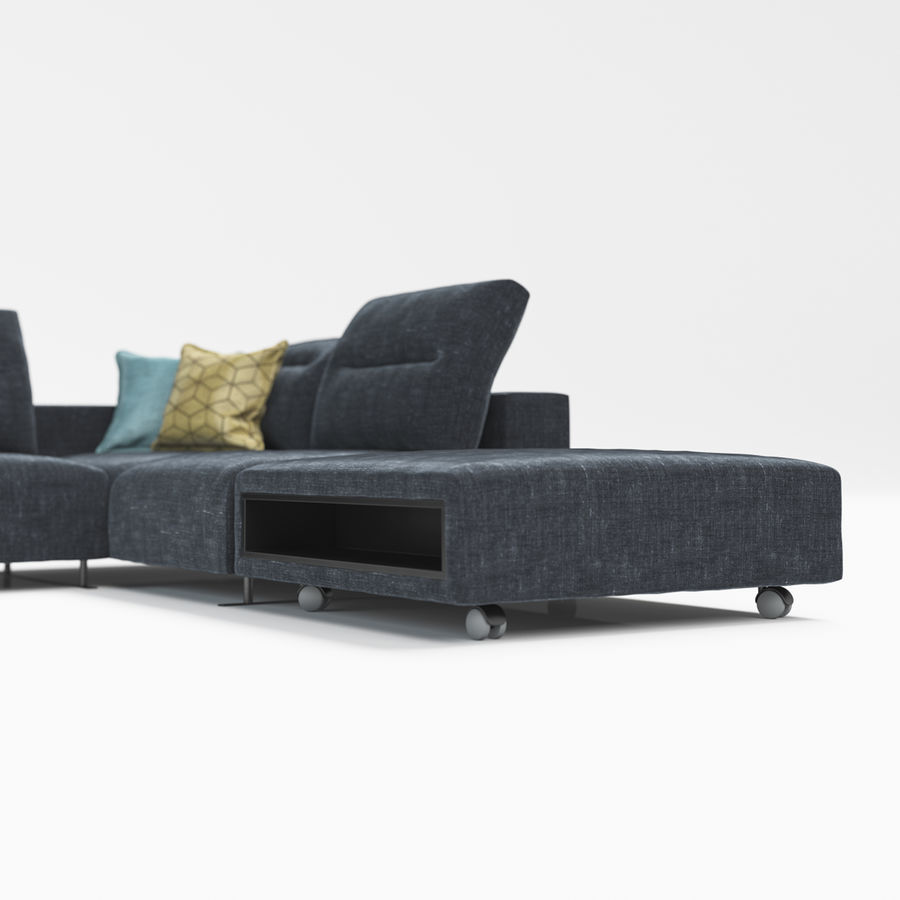Sofá Hampton BoConcept royalty-free modelo 3d - Preview no. 6