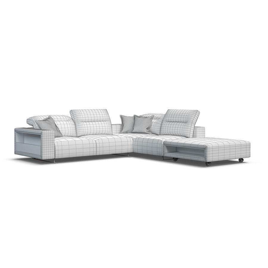 Sofá Hampton BoConcept royalty-free modelo 3d - Preview no. 8