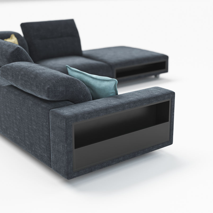 Sofá Hampton BoConcept royalty-free modelo 3d - Preview no. 5