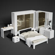 Serenissima Prisma nero bedroom set 3d model