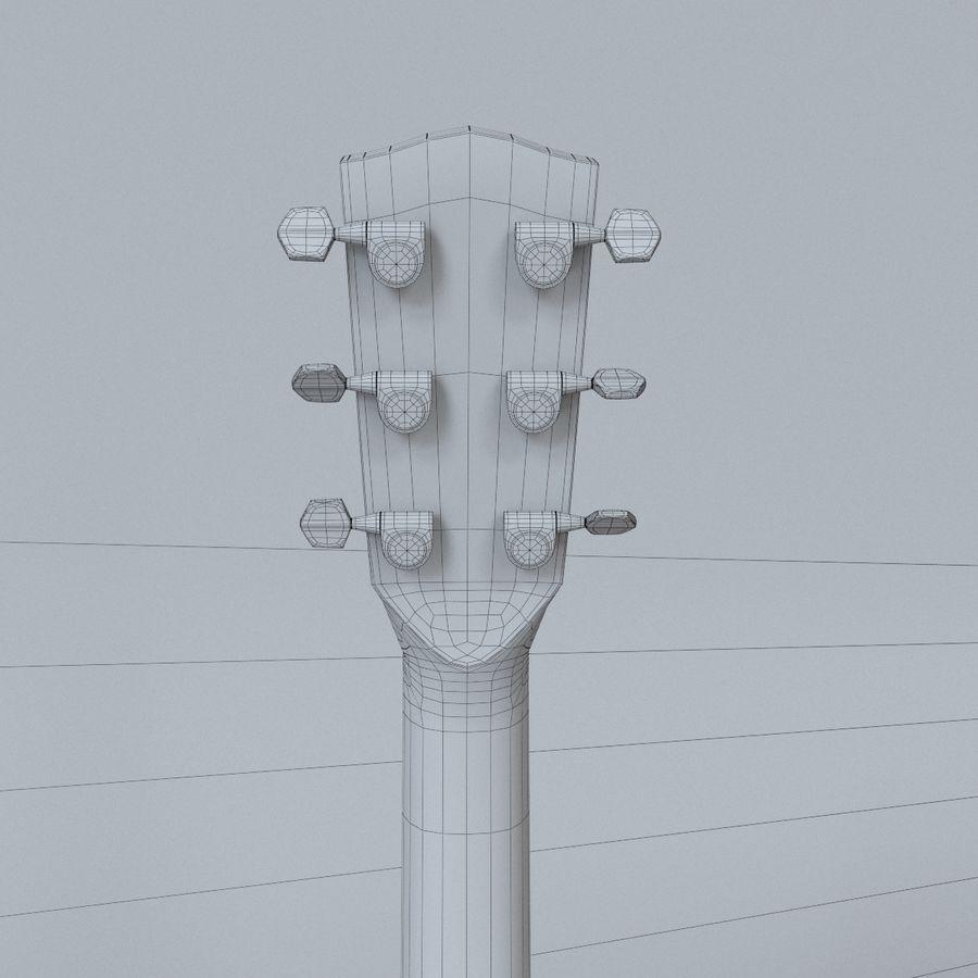 펜더 CD-60 어쿠스틱 기타 royalty-free 3d model - Preview no. 16