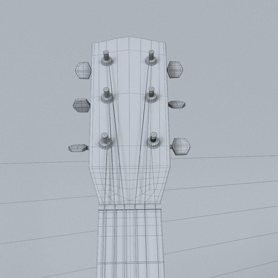 펜더 CD-60 어쿠스틱 기타 royalty-free 3d model - Preview no. 14