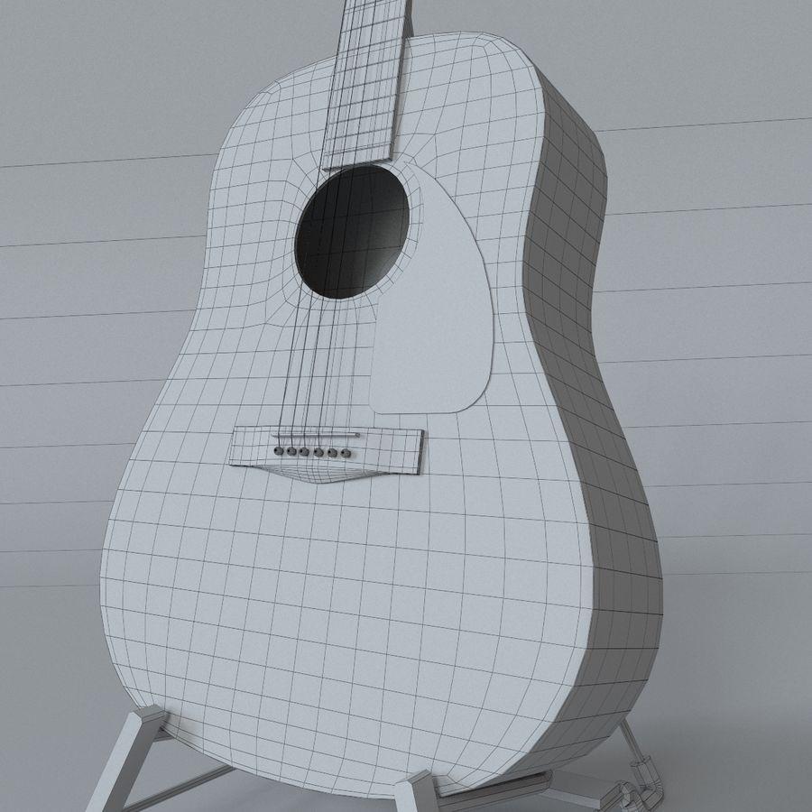 펜더 CD-60 어쿠스틱 기타 royalty-free 3d model - Preview no. 10