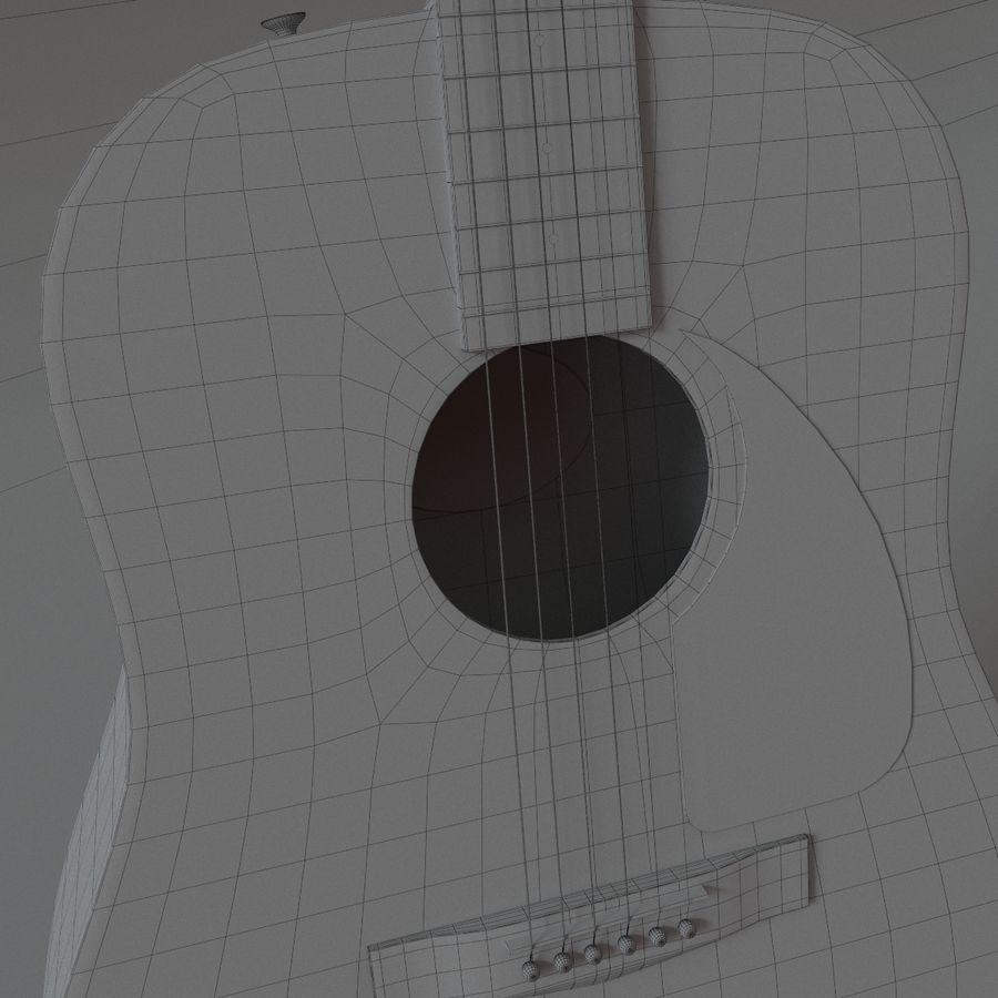 펜더 CD-60 어쿠스틱 기타 royalty-free 3d model - Preview no. 12