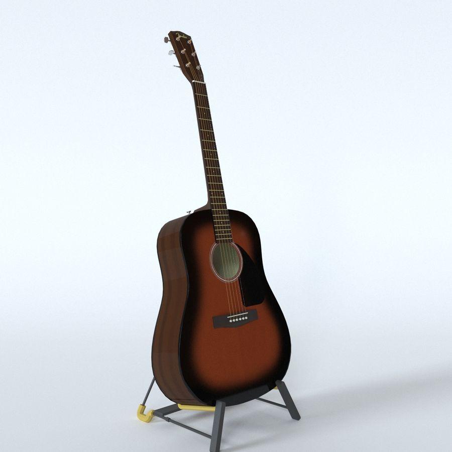 펜더 CD-60 어쿠스틱 기타 royalty-free 3d model - Preview no. 8
