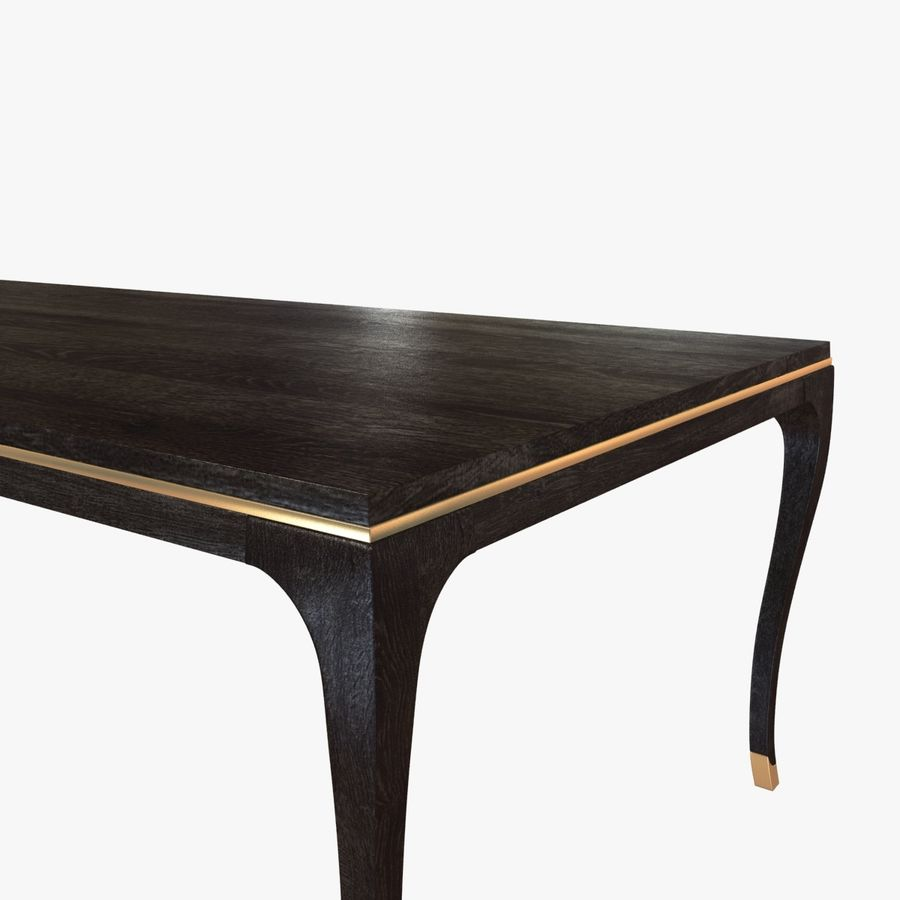 Holly hunt CARLYLE DINING TABLE royalty-free 3d model - Preview no. 3