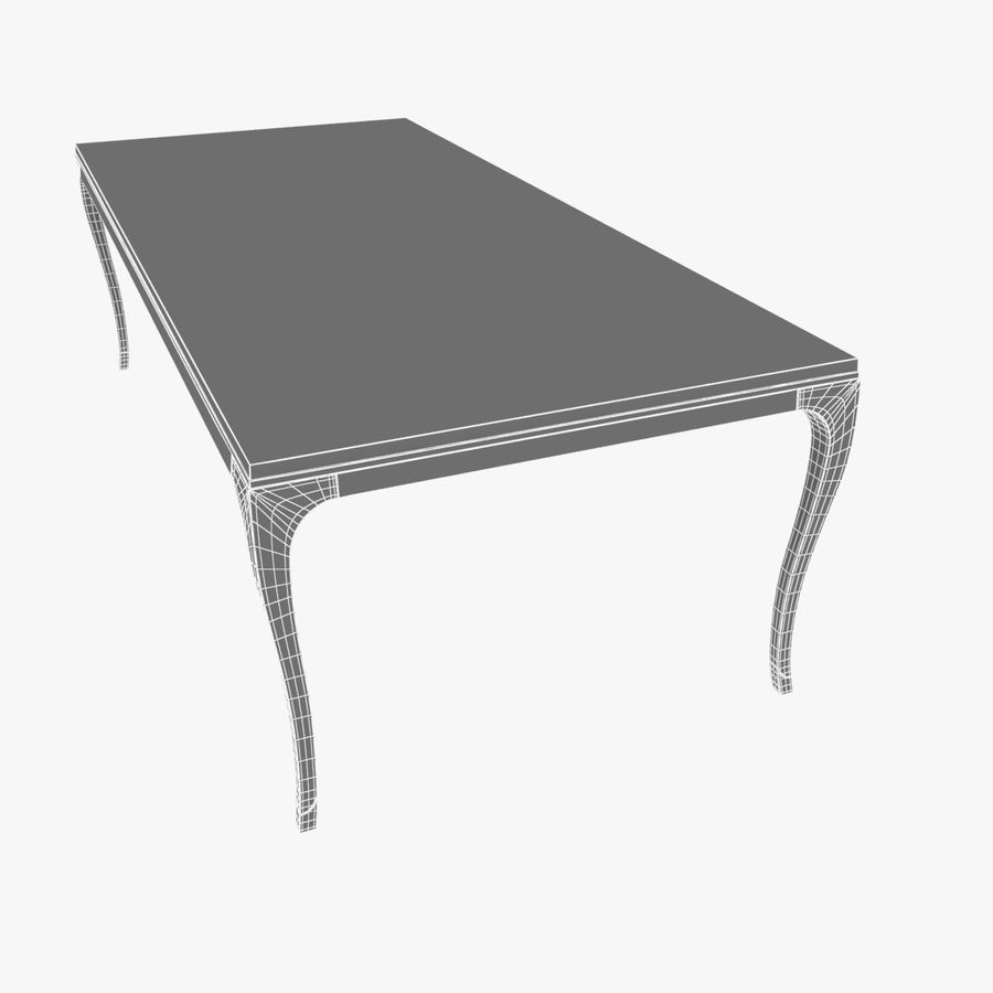 Holly hunt CARLYLE DINING TABLE royalty-free 3d model - Preview no. 7