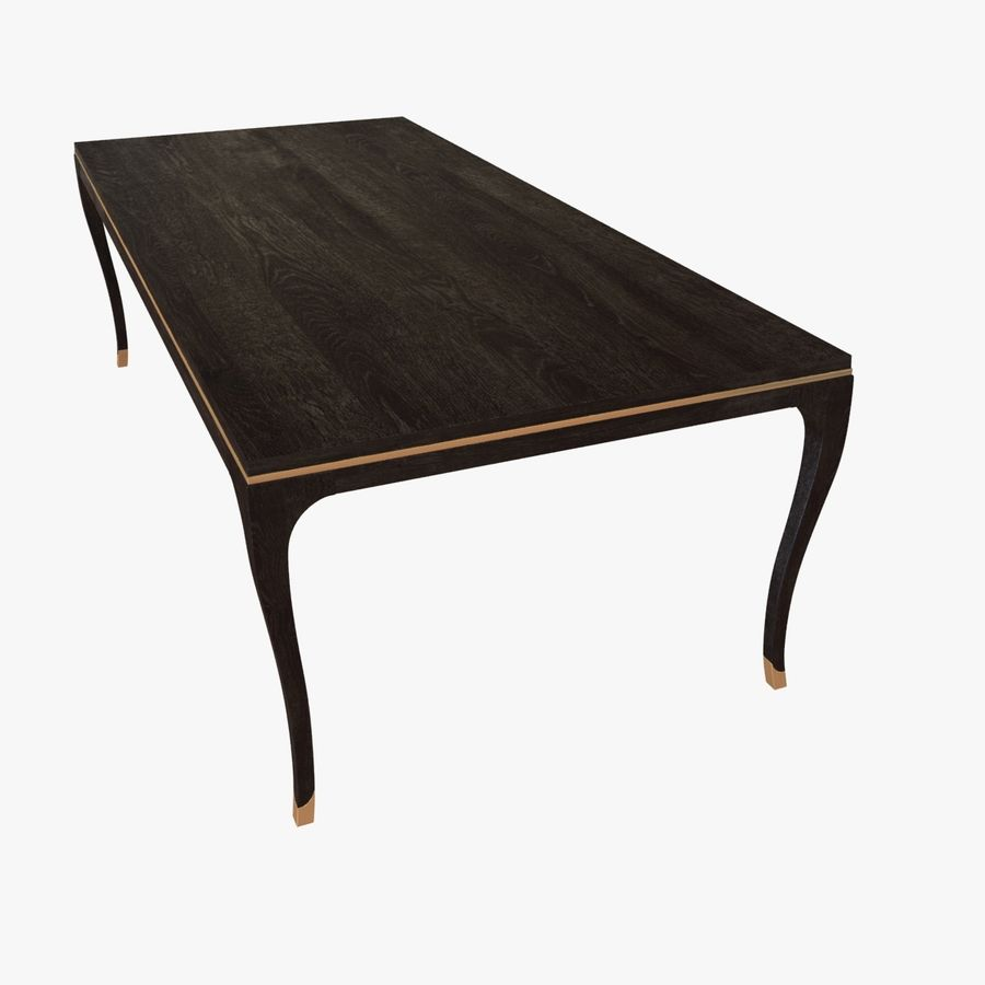 Holly hunt CARLYLE DINING TABLE royalty-free 3d model - Preview no. 6