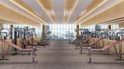 Fitnessstudio - Werbung 3d model