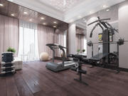 Fitnessstudio privat - 01 3d model