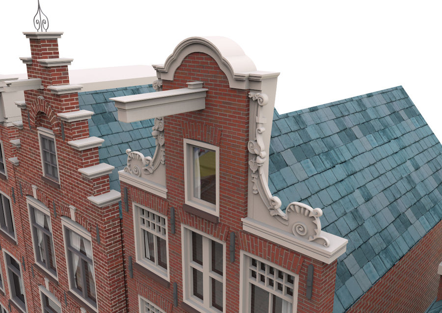 Case di Amsterdam royalty-free 3d model - Preview no. 3