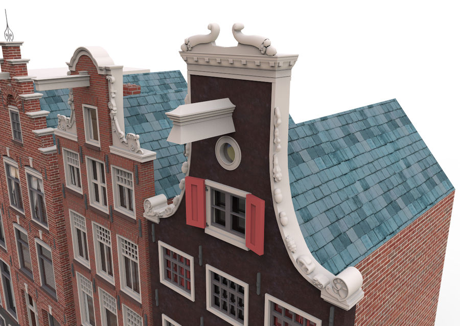 Case di Amsterdam royalty-free 3d model - Preview no. 2