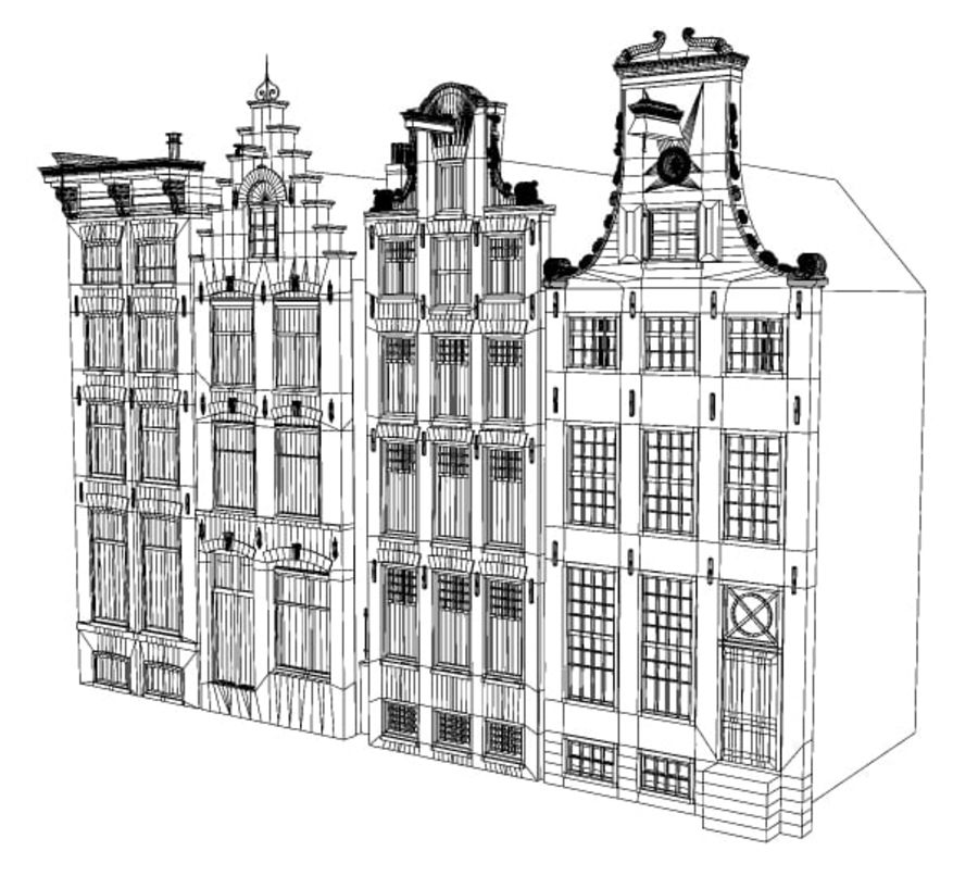 Case di Amsterdam royalty-free 3d model - Preview no. 4