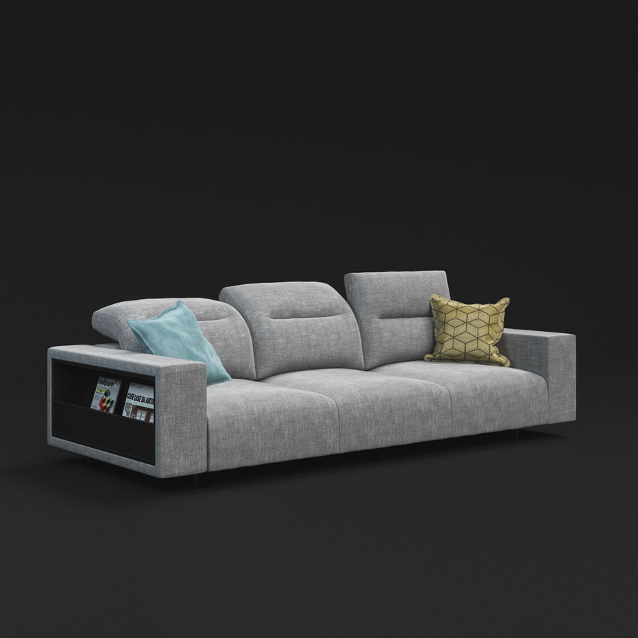 ソファHampton BoConcept royalty-free 3d model - Preview no. 2