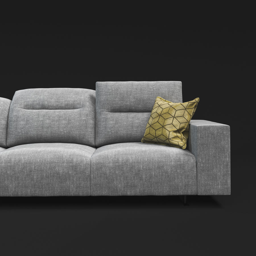 ソファHampton BoConcept royalty-free 3d model - Preview no. 6