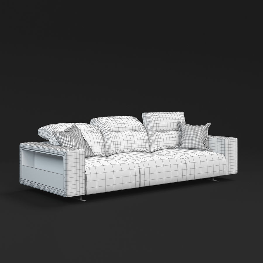 ソファHampton BoConcept royalty-free 3d model - Preview no. 10