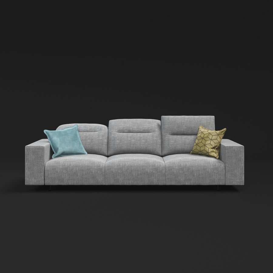 ソファHampton BoConcept royalty-free 3d model - Preview no. 3