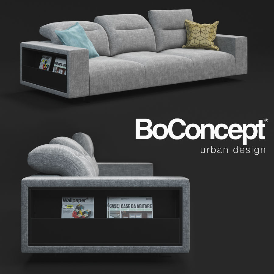 ソファHampton BoConcept royalty-free 3d model - Preview no. 1
