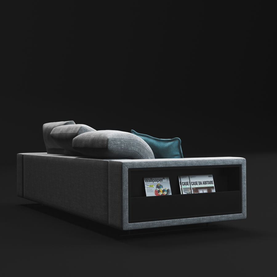ソファHampton BoConcept royalty-free 3d model - Preview no. 7