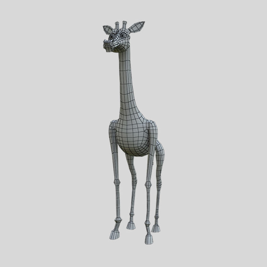 卡通长颈鹿 royalty-free 3d model - Preview no. 4