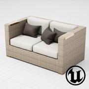 Патио Мебель 003 Диван UE4 3d model