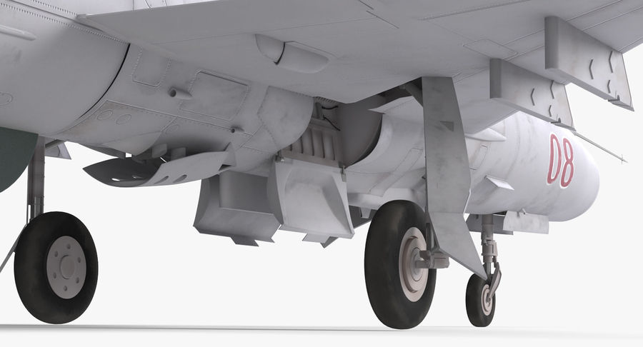 Fighter MiG-21 Fishbed russo royalty-free 3d model - Preview no. 14