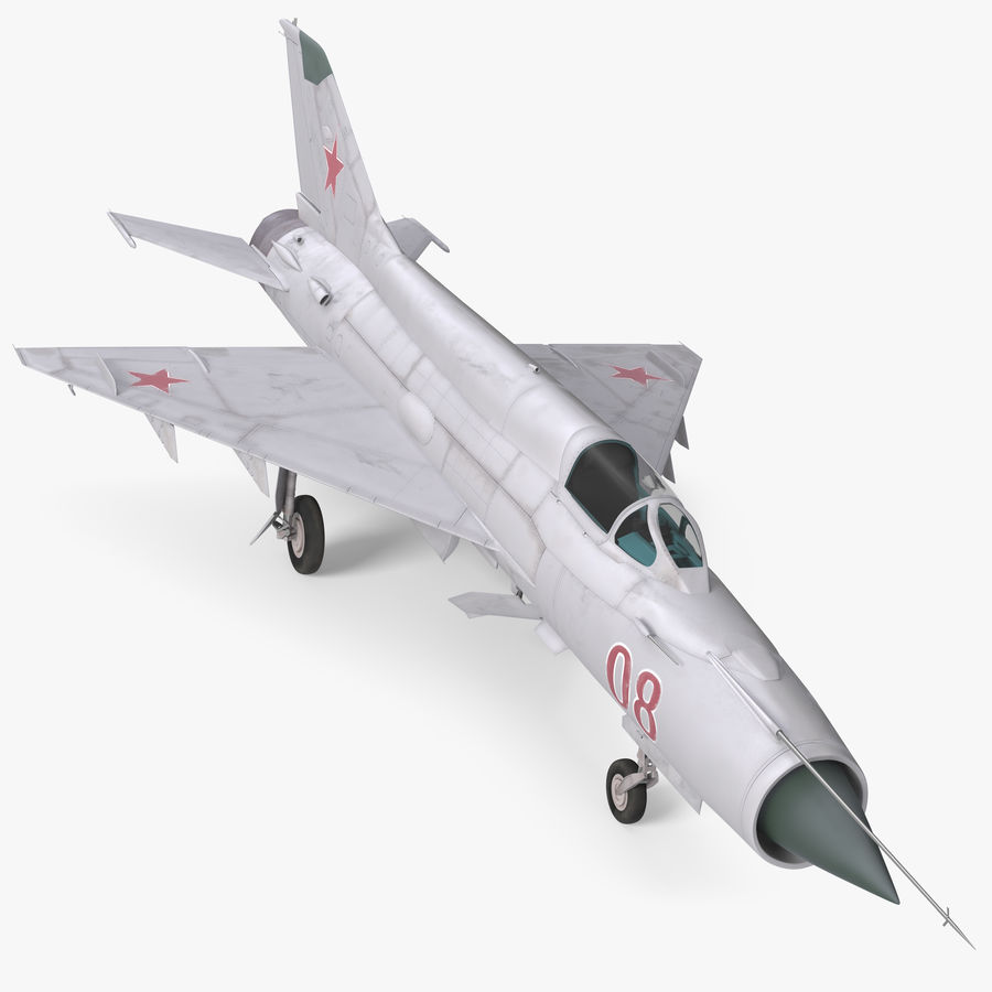Fighter MiG-21 Fishbed russo royalty-free 3d model - Preview no. 1