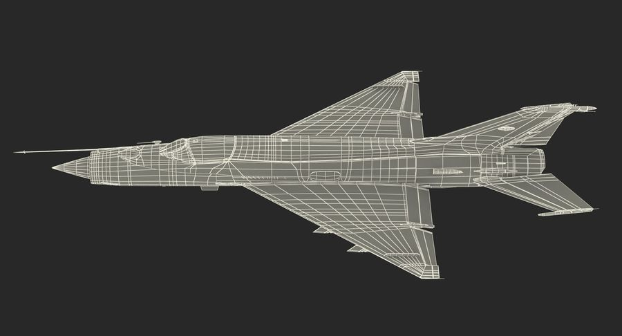 Fighter MiG-21 Fishbed russo royalty-free 3d model - Preview no. 24