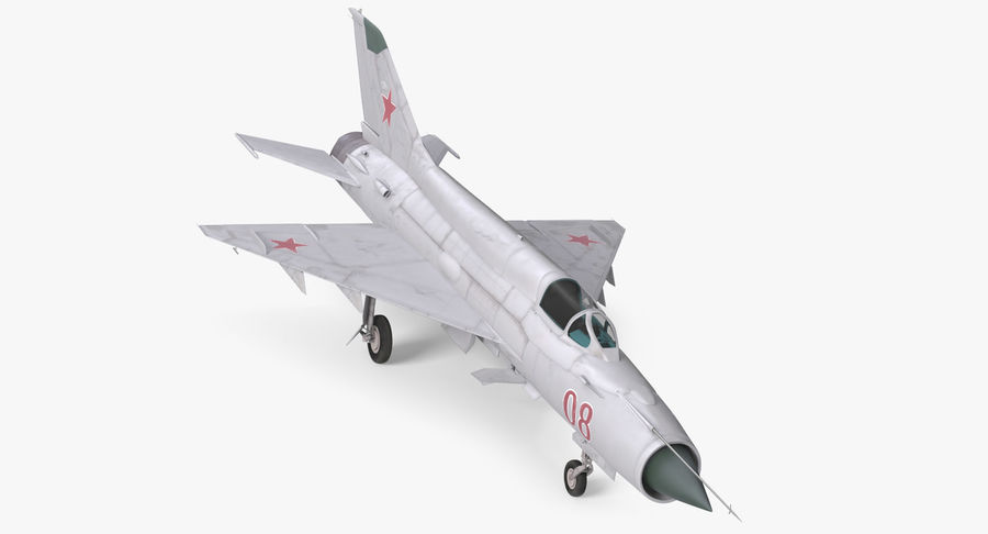 Fighter MiG-21 Fishbed russo royalty-free 3d model - Preview no. 2