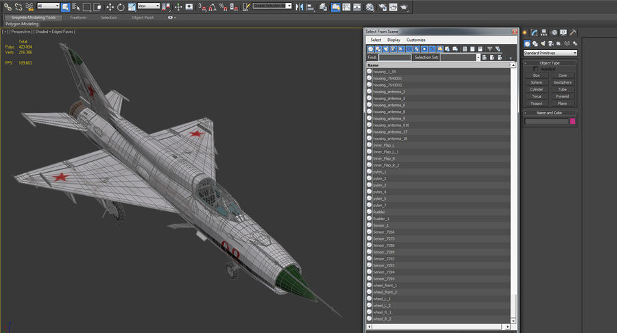 Fighter MiG-21 Fishbed russo royalty-free 3d model - Preview no. 23