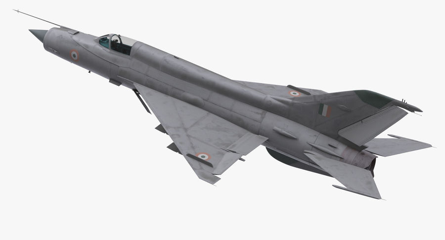 MiG-21 Bison Indian Air Force IAF royalty-free 3d model - Preview no. 6