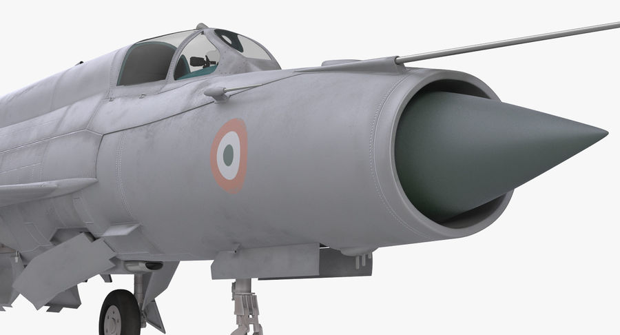 MiG-21 Bison Indian Air Force IAF royalty-free 3d model - Preview no. 15