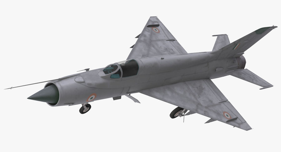 MiG-21 Bison Indian Air Force IAF royalty-free 3d model - Preview no. 10