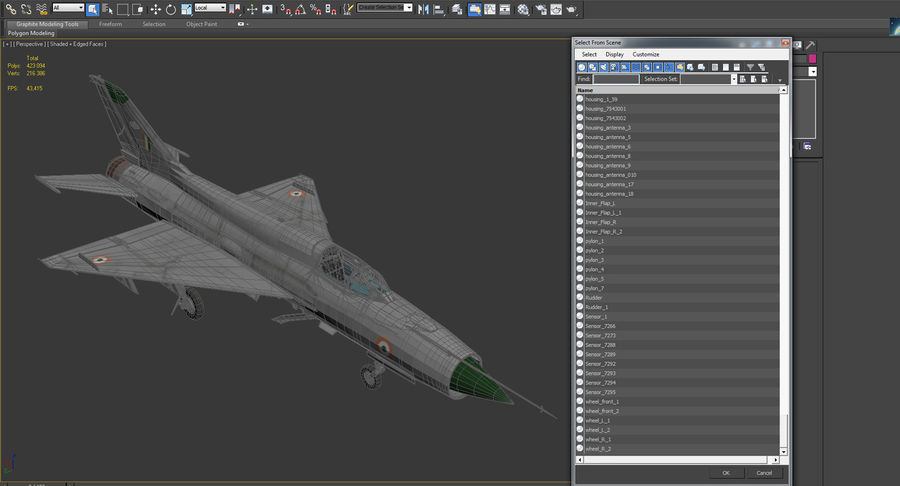 MiG-21 Bison Indian Air Force IAF royalty-free 3d model - Preview no. 22