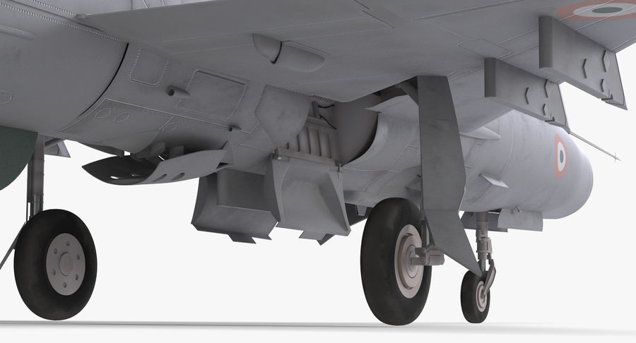 MiG-21 Bison Indian Air Force IAF royalty-free 3d model - Preview no. 14