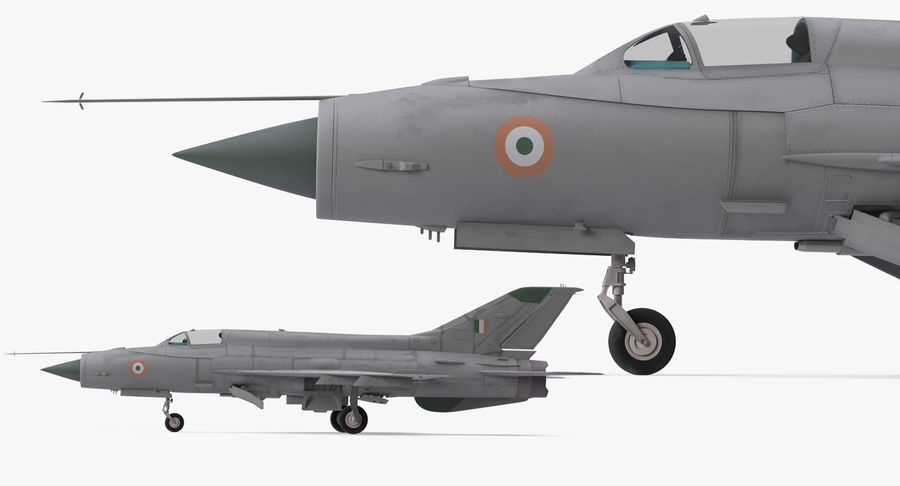 MiG-21 Bison Indian Air Force IAF royalty-free 3d model - Preview no. 12