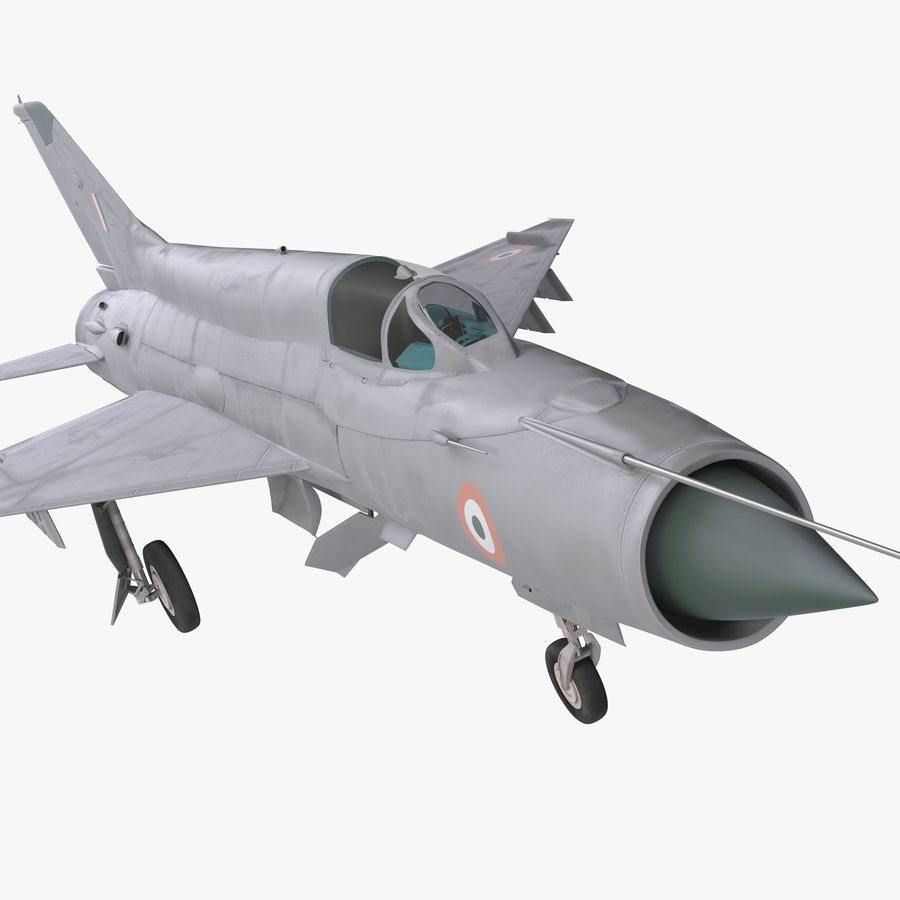MiG-21 Bison Indian Air Force IAF royalty-free 3d model - Preview no. 1