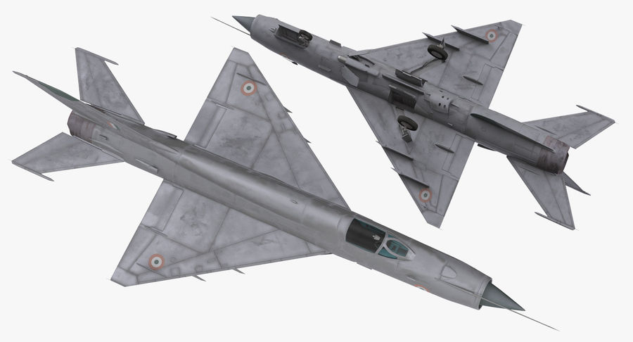 MiG-21 Bison Indian Air Force IAF royalty-free 3d model - Preview no. 8