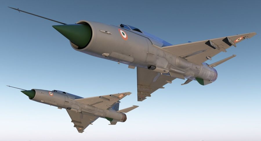 MiG-21 Bison Indian Air Force IAF royalty-free 3d model - Preview no. 4